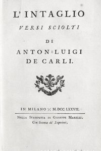 Scalptura Carmen – L'Intaglio. Versi sciolti