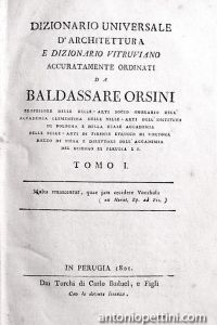Dizionario universale d'architettura e Dizionario vitruviano accuratamente ordinati